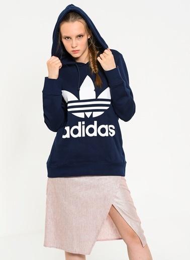 adidas Kapüşonlu Sweatshirt Lacivert